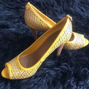Tory Burch open toe heel. Size 10.5